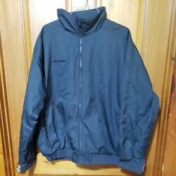 Columbia Full Zip Coat Rn 69724 Ca 05367 Menand039s Xxl Graay Insulated Thick