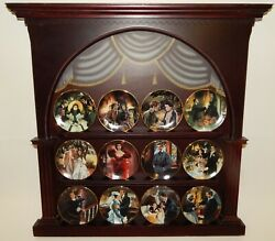 Bradford Exchange Gone With The Wind 12 Mini Collector Plates With Display Coas