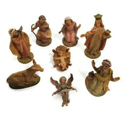 Vintage 8 Piece 5 Fontanini-style Nativity Set Made In Italy