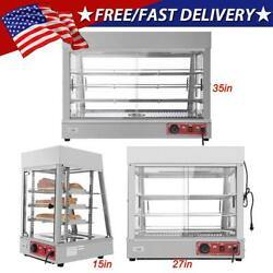 Multi Size Commercial Dry Heated Showcase Display Hot Food Snack Pizza Warmer