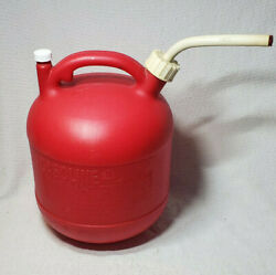 Vintage Eagle 2 1/2 Gallon Round Plastic Gas Can Pg3 Vented With Spout