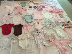Adorable Baby Girl 0 3 Months Summer Clothes Over 50 Pieces 7 New W Tags 33 Outf $59.99