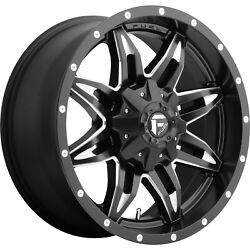 4- 20x9 Black Fuel Lethal D567 6x135 And 6x5.5 +1 Wheels Lt285/55r20 Tires