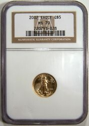 2002 2003 2004 2005 Gold Eagles All Ngc Ms 70