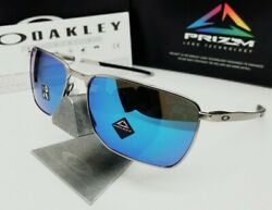 Satin Chrome/sapphire Prizm Ejector Oo4142-0458 Sunglasses New In Box