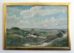 View Through One Sand Dunes To The Sea, Kongsmar, Middle 20.jh