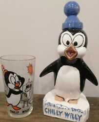 Vintage Chilly Willy Pepsi Collectors Glass-statue-walter Lantz-penguin-rare
