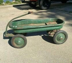 Vintage Mercury Wagon Child Metal Pull Wagon. 1940and039s. Great Condition