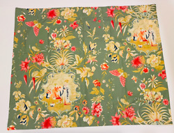 Pottery Barn Green Floral Asian Toile Sham