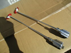 1930and039s-1940and039s 13 Inch Art Deco Style Red Bakelite And Chrome Fender Guides