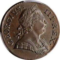 Great Britain George Iii 1771 Half-penny Uncirculated Certified Pcgs Ms62-bn