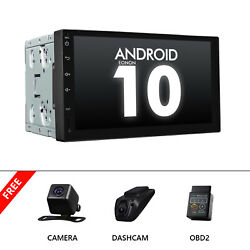 Obd+dvr+cam+7 Android 10 Car Stereo Gps Radio Player Audio 2 Din Wifi Bluetooth