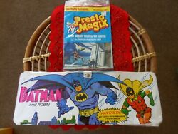 Vintage 1973 Ideal Batman And Robin Batcave Museum Playset And Presto Magix Game