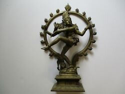Large Vintage Heavy Bronze Brass Sculpture India Hindu Icon Iconic Lord Shiva