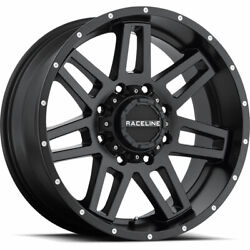 4- 20x9 Black Raceline Injector 6x5.5 And 6x135 -12 Rims Trail Blade Mt 33 Tires