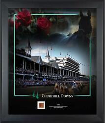 Churchill Downs Framed 20 X 24 Collage And Race Used Dirt From Churchill Downs