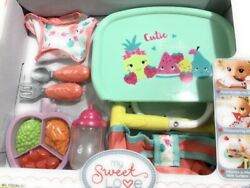 My Sweet Love Baby Doll Portable Table Feeding Play Set- 9 Pc,high Quality.new