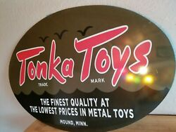 Tonka Toys Sign Toy Tractor Farm Vintage Style Display
