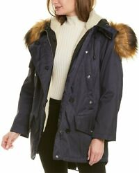 Faux Fur And Cotton Coat Womenand039s