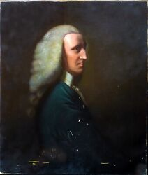 Large Portrait Of George 1st Lord Lyttelton 1709-1773 By John Lewis Reilly