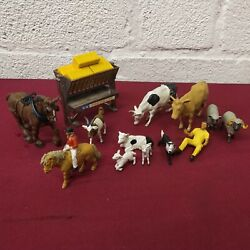 Small Collection Of Britains Farm Toys With Metal Feed Manager