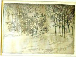 Peter Winslow Milton Artist's Proof Etching Signed One Of A Kind
