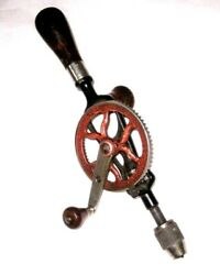 Antique Old Vintage Goodell Pratt No. 379 Egg Beater Hand Drill Made In Usa