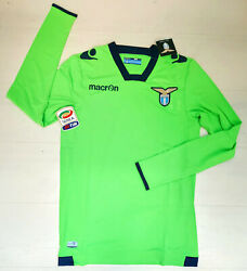 6844 Macron Ss Lazio Shirt Competition Goalkeeper Home 2014 2015 Patch Serie A
