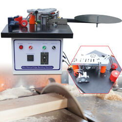 110v 1200w Edge Banding Machine Set Double Side Gluing Automatic Tape Breaking