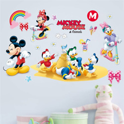 Duck Mickey Minnie Wall Stickers Cartoon Mouse Wall Decals Baby Room Decor