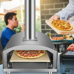 Stainless Steel Pizza Master Portable Outdoor Wood-fired Bbq Grill Oven Free