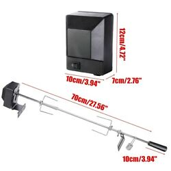Large Grill Rotisserie Spit Roaster Rod Charcoal Bbq Pig Chicken Motor Kit