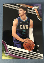 2020/21 Panini Player Of The Day Lamelo Ball Rookie Sp Pink 12/50 Roty