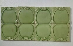 Old Vintage Collectible Rare Design Minton Hollins And Co.english Ceramic Tiles