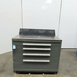 Steel Top 5 Drawer Small Parts Storage Work Station Bench 45w X 28d X 35-1/2h