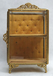 Outstanding Vintage French Gold Dori Bronze And Crystal 9 1/2 Shadow Box Displays