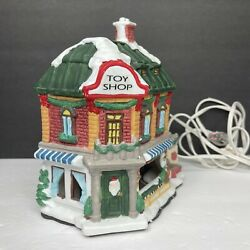 Vintage Holiday Expressions Christmas Village Lighted Toy Shop