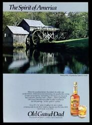 1984 Mabry Mill Virginia Photo Old Grand Dad Bourbon Whiskey Vintage Print Ad
