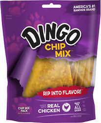 🥇Dingo Chip Mix Rawhide Chews With Chicken for Dogs 16 oz