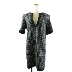 Secondhand Dress Women And039s Cotton Wool Rayon Polyester Navy Black