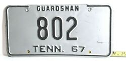 Tennessee - 1967 National Guard - Very Nice Low Number Black/silver