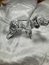 ESTATE FRENCH BACCARAT SIGNED BEAGLE HOUND DOG 5 X 3quot; EXCELLENT CONDITION