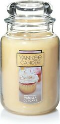 Yankee Candle Vanilla Cupcake Large Scented Candle 22 Oz