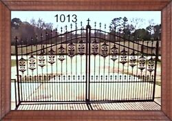 Wrought Iron Style Steel Driveway Entry Gate 1013 12and039 Wd Home Yard Security