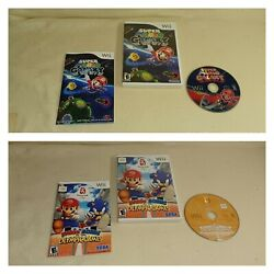 Wii Mario And Sonic At The Olympic Games And Super Galaxy Tested Complete Lot