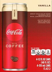 Coke With Coffee, Vanilla, 12 Fl Oz, 4 Count Pack Of 2