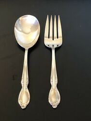Wm Rogers Is Serving Utensils Cold Meat Fork And Casserole Spoon