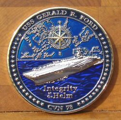 Uss Gerald R. Ford Cvn-78 Carrier Challenge Coin Christened November 9th, 2013
