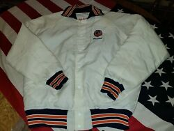 Chicago Bears Brian Piccolo Vintage Jacket Coat Nfl Mens Large Fab-knit 1980's