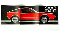 Vintage 1966 Saab Sonett Ii Sales Brochure Swedish Different From Others Red Car